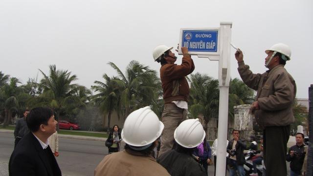 Đà Nẵng gắn bảng tên đường Đại tướng Võ Nguyên Giáp 2