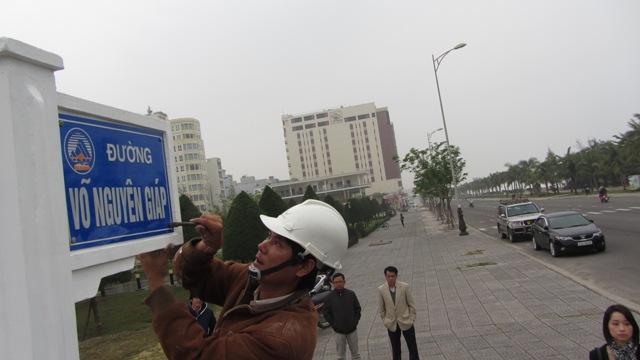 Đà Nẵng gắn bảng tên đường Đại tướng Võ Nguyên Giáp 1