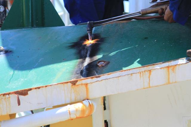 Cận cảnh tàu Kiểm ngư Việt Nam bị tàu Trung Quốc đâm gây hư hỏng 5