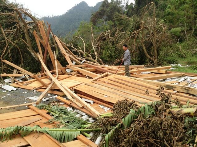 Cao Quảng tan hoang sau bão 1