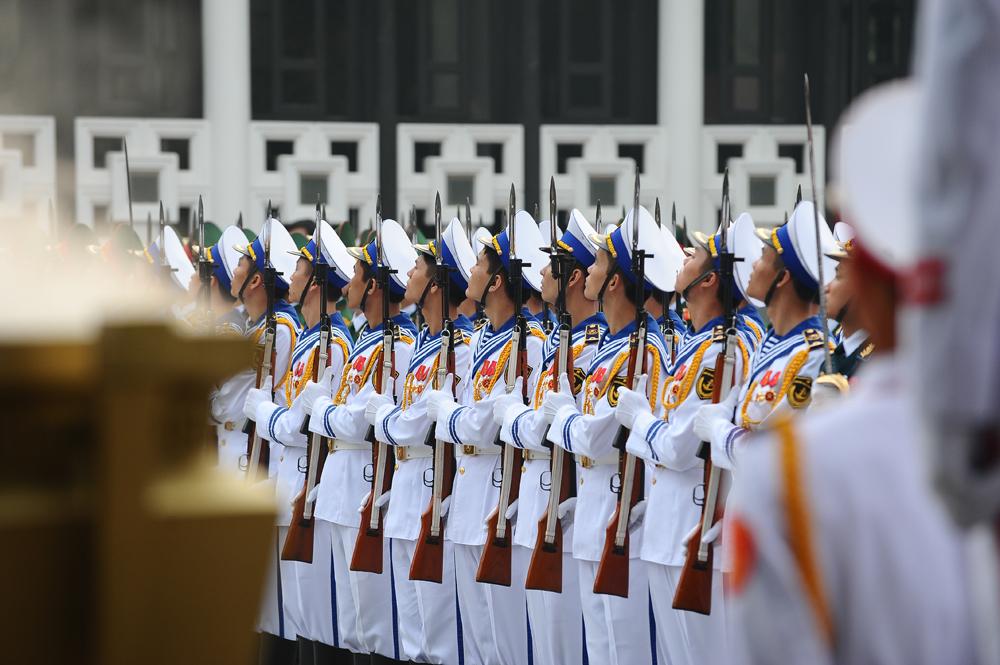 Toàn cảnh đưa tiễn Đại tướng tại sân bay Nội Bài 2