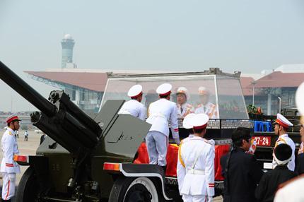 Toàn cảnh đưa tiễn Đại tướng tại sân bay Nội Bài 5