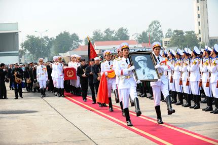 Toàn cảnh đưa tiễn Đại tướng tại sân bay Nội Bài 6