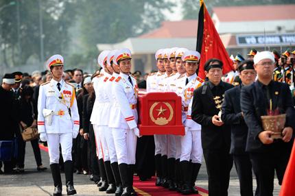 Toàn cảnh đưa tiễn Đại tướng tại sân bay Nội Bài 7