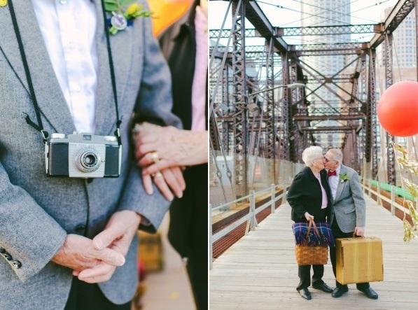 Bộ ảnh kỷ niệm 61 năm tình yêu của cặp vợ chồng ngoại bát tuần 9