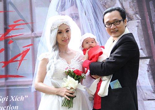 Lê Kiều Như xuất hiện cùng chồng con trong buổi ra mắt MV mới cách đây vài ngày.