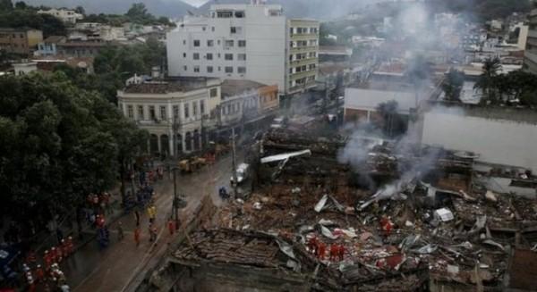 Vụ nổ lớn đã khiến thủ đô của Brazil rung chuyển.