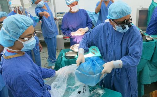 Nguồn tạng được vận chuyển bằng đường hàng không từ TP HCM ra Hà Nội ghép cho bệnh nhân. Ảnh: Bệnh viện cung cấp.