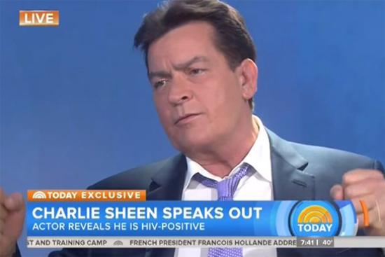 Charlie Sheen trả lời phỏng vấn trên Today show tại New York sáng ngày 17/11.