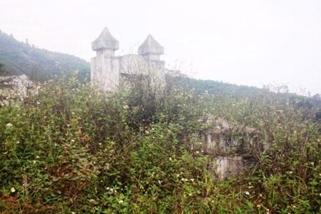 Ngôi mộ thờ mẫu khuyển của dòng họ Đinh Công