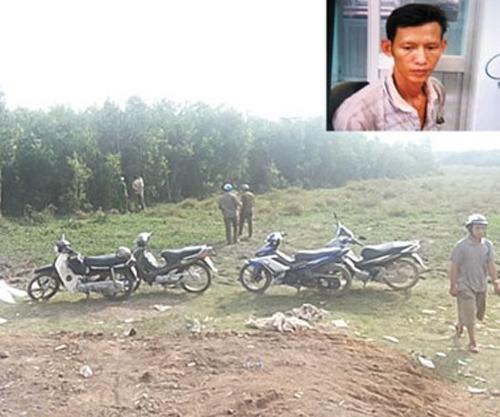 Hiện trường tìm thấy thi thể của nạn nhân đầu tiên.