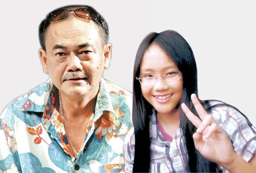 NSƯT Việt Anh và con gái. Anh vẫn gọi cô con gái 16 tuổi bằng tên bé Bơ.