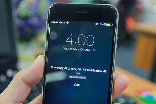 Người dùng có thể vô hiệu hóa iPhone từ xa thông qua tài khoản iCloud đã đăng nhập.