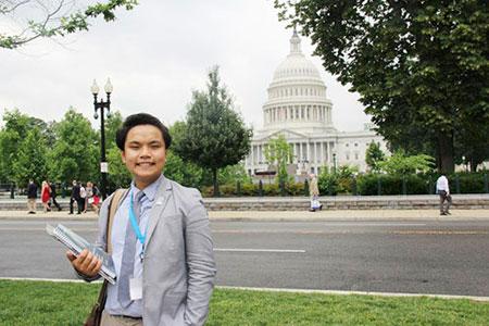 Phạm Nguyễn Đăng Trình, sinh viên Đại học Fullerton bang California (Mỹ). Ảnh:NVCC.