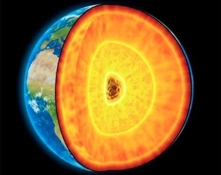 Lõi Trái đất nóng gần bằng nhiệt độ ởbề mặt Mặt trời.