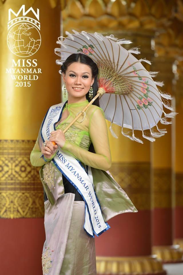 Nhan sắc đến từ Myanmar -Khin Yadanar Thein Myint. Cô năm nay 23 tuổi với chiều cao 1,75 m và làm nghề hướng dẫn viên du lịch.