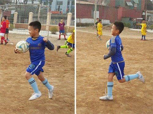 Trần Lập cũng tự hào khi con traiđam mê bóng đá giống mình.