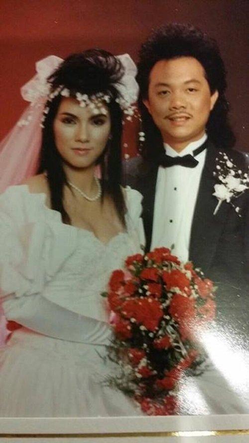 Danh hài Chí Tài điển trai bên vợ trong ngày cưới
