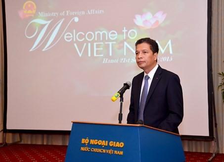 Thứ trưởng Bộ Ngoại giao Đặng Minh Khôi phát biểu tại lễ ra mắt
