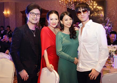 Chương Tử Di - Uông Phong (trái) và vợ chồng Vương Lực Hoành.
