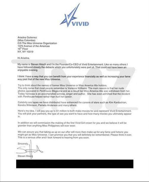 Bức thư của ông chủ Vidid Entertainment.