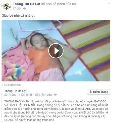 Hình ảnh, video được chia sẻ, Trong đó, nhiều người cho rằng bé mặc áo cam giống con anh Huynh.