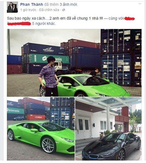 Hai xế sang BMW i8 và Lamborghini Huracan màu độc của Phan Thành.