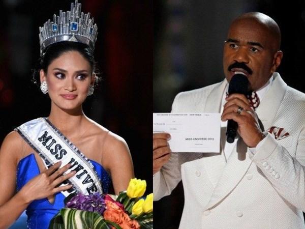 Nhờ vụ cố, Miss Universe 2015 trở thành điểm nhấn trong suốt hành trình 64 năm tổ chức. Fanpage chương trình tăng hơn 1 triệu lượt theo dõi chỉ sau 1 đêm - Ảnh: AFP