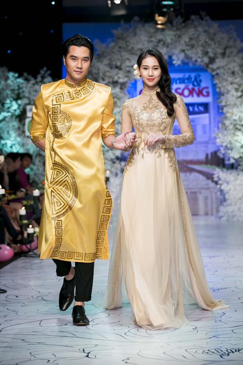 Góp mặt trong chương trình lần này, nhà thiết kế Minh Châu mang đến các mẫuáo dài mới nhấtcho mùa cưới năm nay.