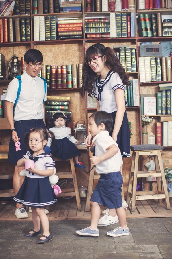 Gia đình hạnh phúc với 5 thành viên của Lý Hải - Minh Hà