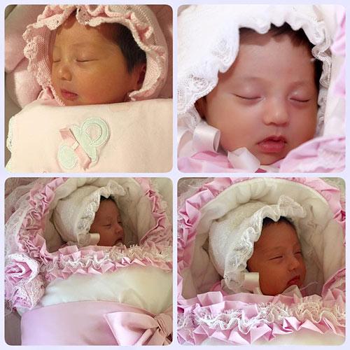 Cô công chúa xinh như thiên thần vừa ra đời của gia đình Hoa hậu