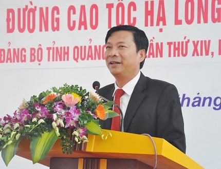 Ông Nguyễn Văn Đọc - Bí thư tỉnh ủy phát biểu tại buổi lễ.