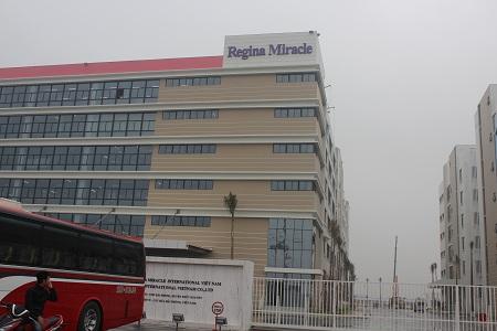 Công ty TNHH Regina Miracle nơi xảy ra vụ ngộ độc tập thể gây xôn xao dư luận