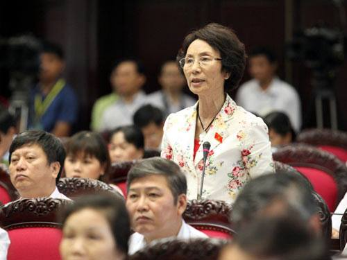 Bà Bùi Thị An- Đại biểu Quốc hội tin tưởng: Hà nội sẽ làm, sẽ xử lý