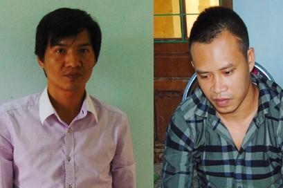 Hai đối tượng Nguyễn Ngọc Hải (bên Trái) và Lê Thanh Tùng (bên phải)