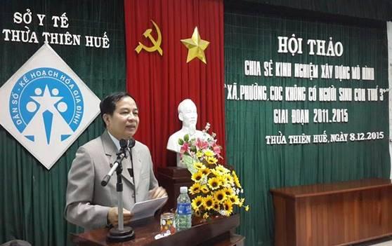 TS.Nguyễn Nam Hùng- Tỉnh ủy viên, Giám đốc Sở Y tế phát biểu tại Hội thảo