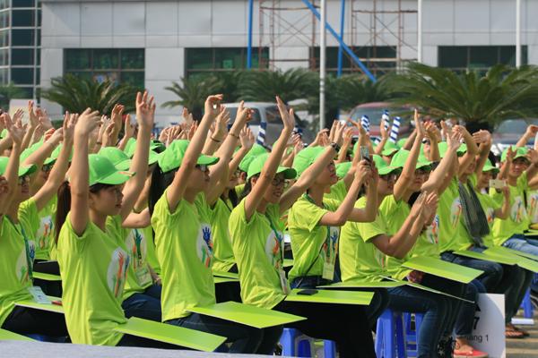 Hơn 500 sinh viên có mặt hưởng ứng Ngày hội.