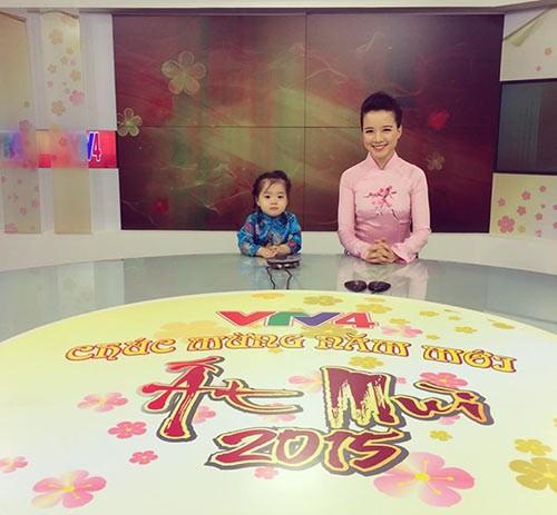 Bé gái lớn của MC Minh Trang hiện đã 3 tuổi. Bé rất thông minh, lém lỉnh (ảnh: TL)