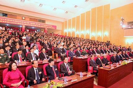 350 đại biểu đại diện cho hơn 11 vạn đnag viên thành phố về dự đại hội Đảng bộ thành phố Hải Phòng lần thứ XV