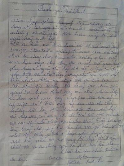 Bức thư của giáo viên gửi phụ huynh