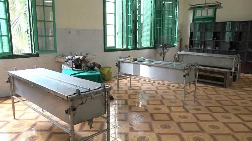 Phòng giữ xác của Đại học Y Hà Nội, nơi ông Lâm làm việc 30 năm qua. Ảnh: Lê Nga.