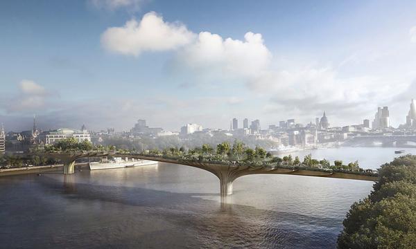Có hơn 30 cây cầu bắc qua sông Thames, London, nhưng cầu Garden có thể trở thành dự án tham vọng nhất của kiến trúc sư Thomas Heatherwick với kinh phí lên đến 275 triệu USD.