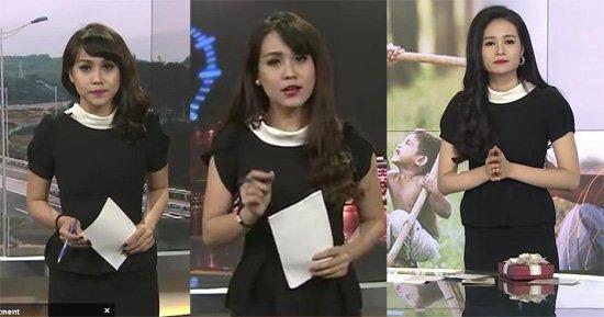 BTV Trúc Mai và BTV Thu Hương chắc hẳn cùng rất yêu thích thiết kế này nên chỉ cách nhau vài số khán giả lại thấy hai thiết kế giống hệt nhau xuất hiện trên sóng.