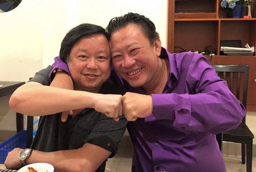 Nhạc sĩ Lương Minh và nhạc sĩ Lê Quang.