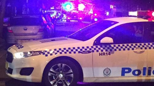 Một xe cảnh sát tại hiện trường vụ việc ở Merrylands. Ảnh: BBC