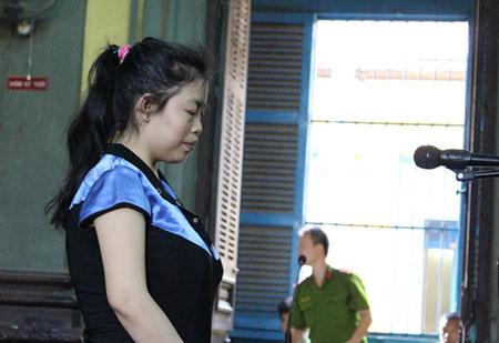 Bị cáo Nguyễn Thị Hoài An tỏ ra ăn năn hối hận về hành vi của mình