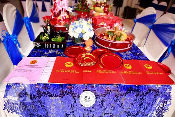Của hồi môn được trao tặng trong đám cưới của cặp đôi Quốc Dũng - Anh Thư.