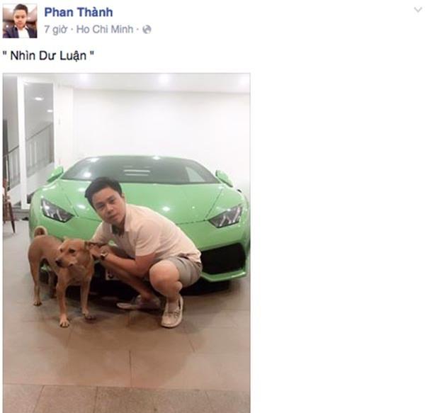 Và đây là hình ảnh mới nhất của Phan Thành.