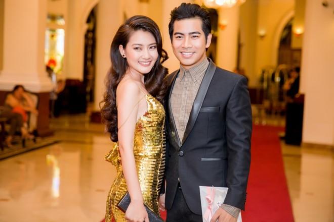 Cặp đôi diễn viên cùng tham gia sự kiện tại TP HCM. Ảnh: NS