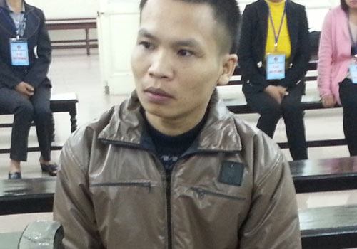 Nguyễn Văn Đoàn tại phiên toà sơ thẩm.
